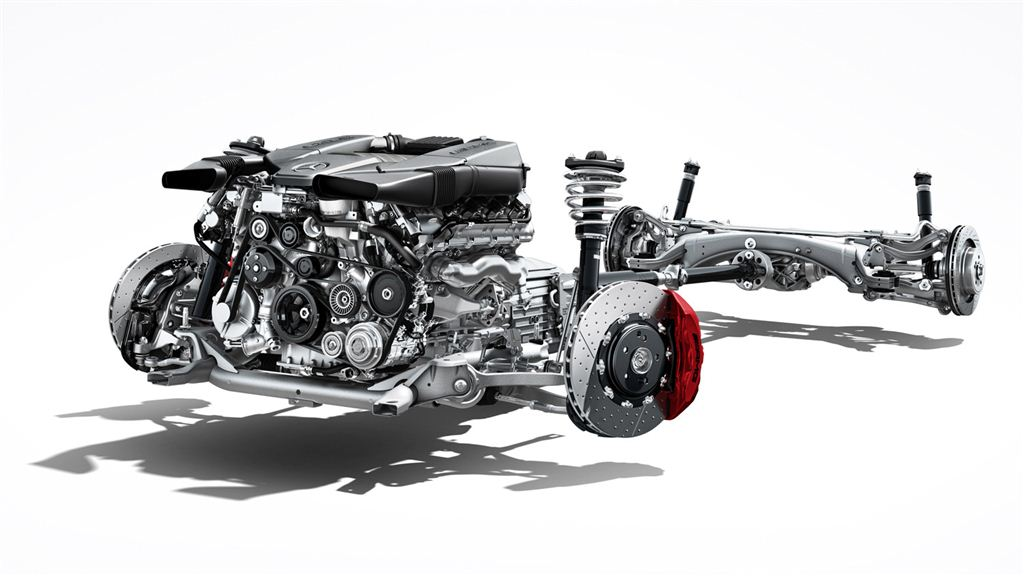 Mercedes benz C 63 AMG chassis with engine